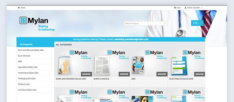 Mylan Sales Website