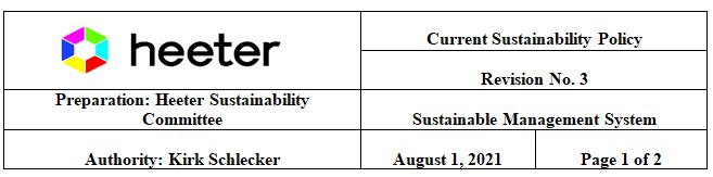 Heeter sustainability commitee
